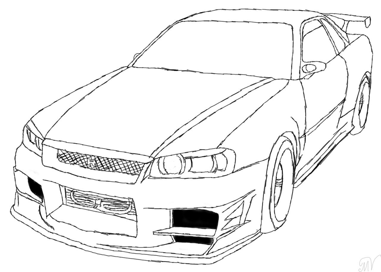 Drawn vehicle nissan Nissan on Nissan skyline by