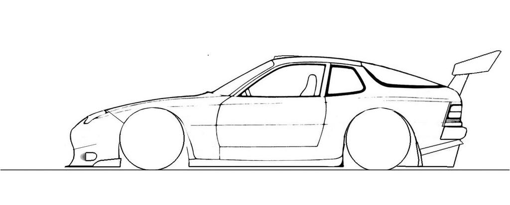 Drawn race car outline Outline draw car drawings drawings