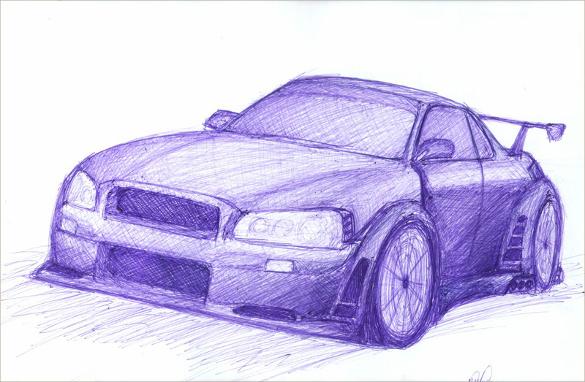 Drawn vehicle pen Drawings AI Free Pen Vector