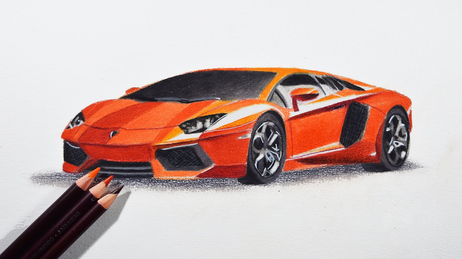 Drawn vehicle pencil for kid Colored Car to tutorial Car