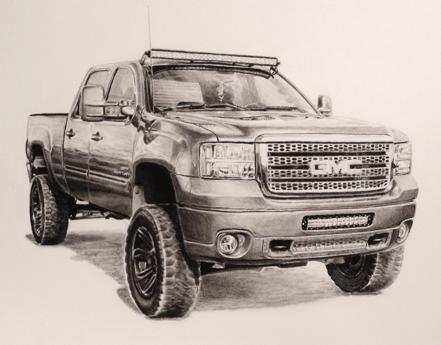 Drawn vehicle pencil for kid Custom art from drawing 14