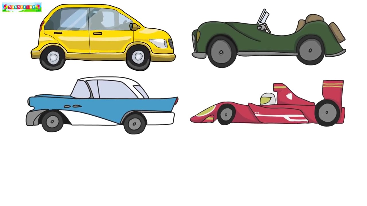 Drawn vehicle pencil for kid Cars Draw Learn To Art