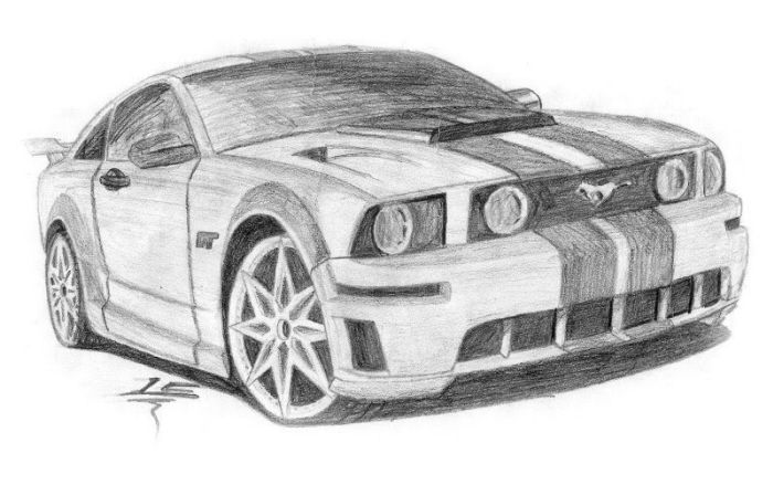 Drawn artistic car #10