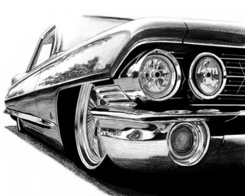 Drawn vehicle pencil shading Of images with engine Here