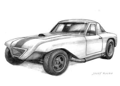 Drawn vehicle pencil shading Drawings Race Car Mystery Vehicle