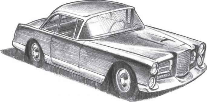 Drawn vehicle pencil shading Successful Shading Nava Cars With