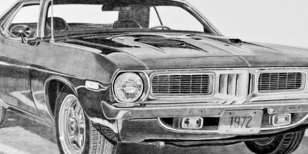 Drawn vehicle pencil shading Cars of pencil Here some