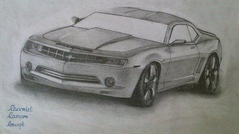 Drawn vehicle pencil shading Shading How drawing color drawing