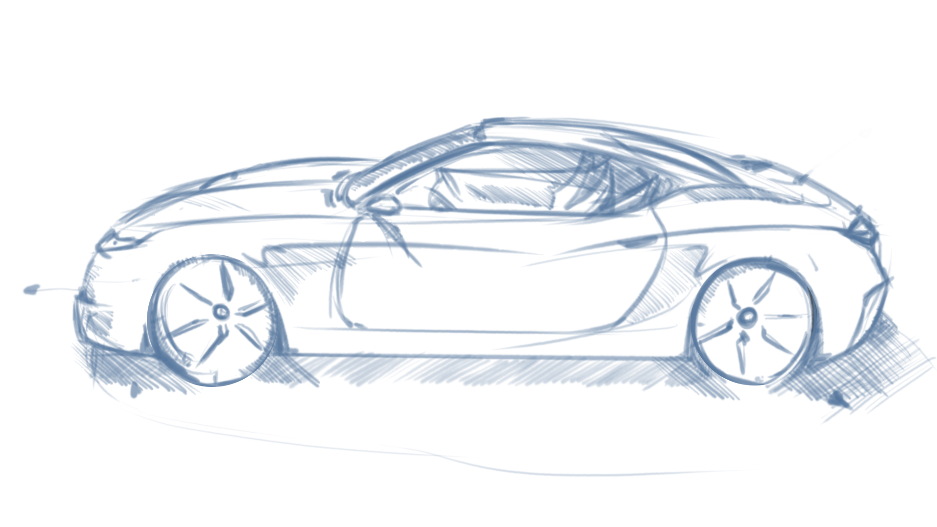 Drawn vehicle perspective drawing Draw Car cars One Point