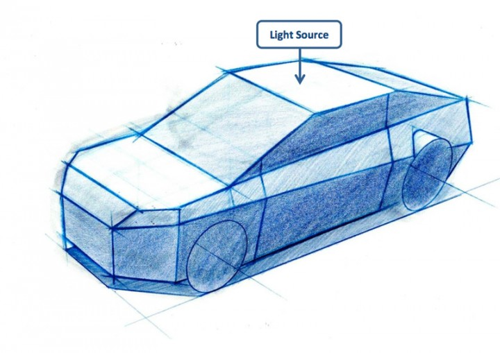 Drawn vehicle perspective drawing Drawing Intro carbody car perspective