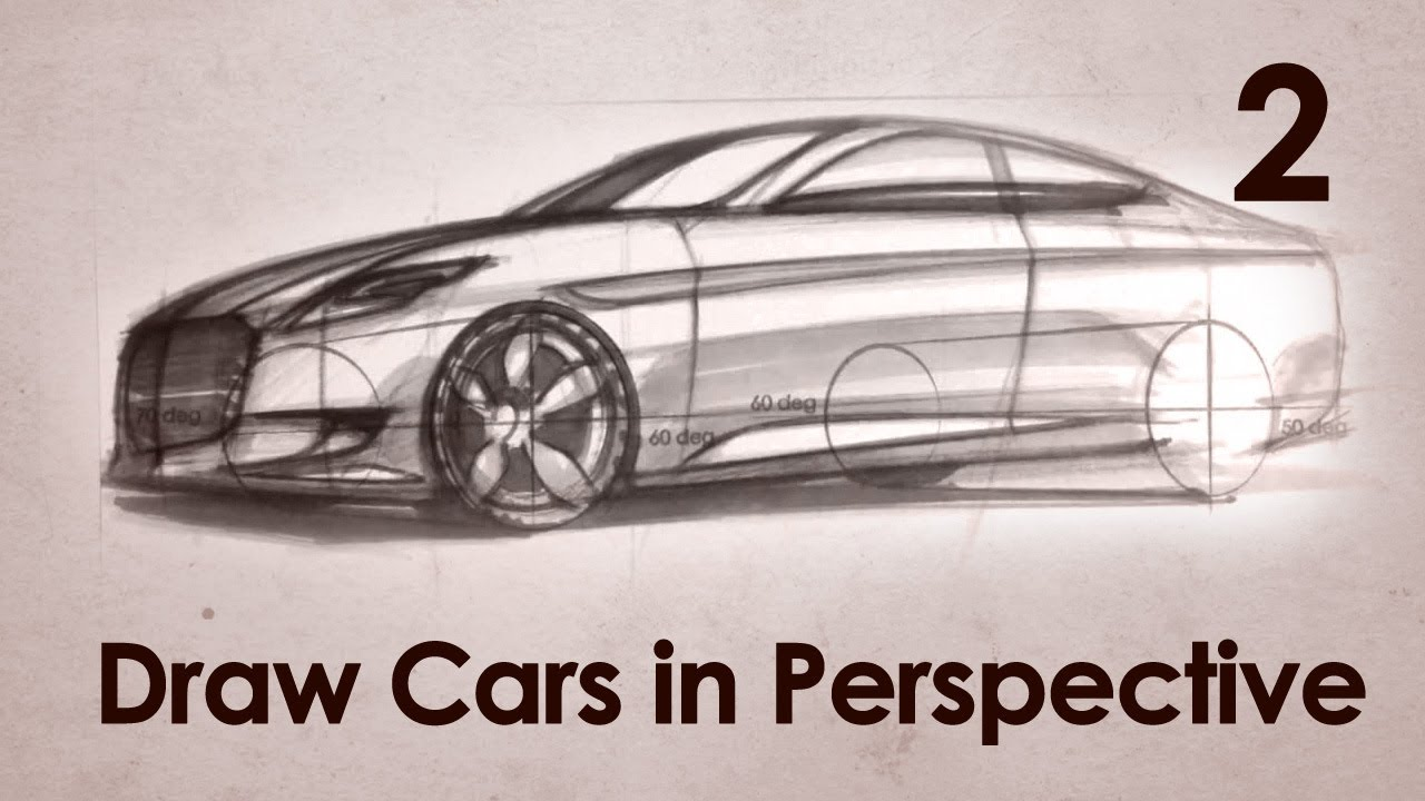 Drawn vehicle perspective drawing How Perspective YouTube  Part