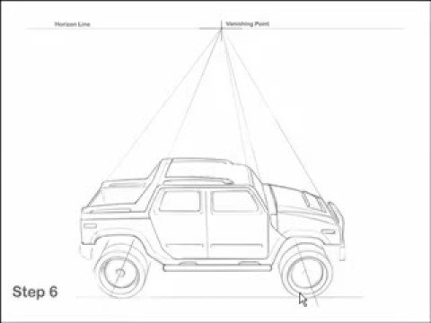 Drawn vehicle perspective drawing How and Tutorial  YouTube