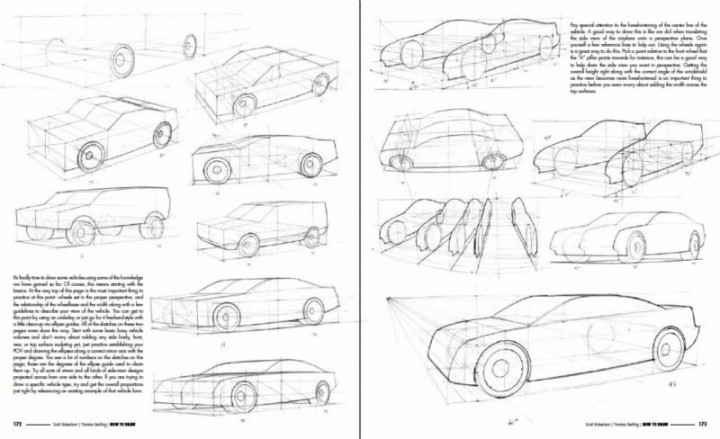Drawn vehicle perspective drawing Thomas Bertling: To How exclusive