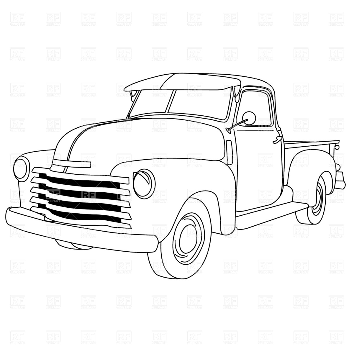 Classical clipart ford truck Coloring up truck old pick