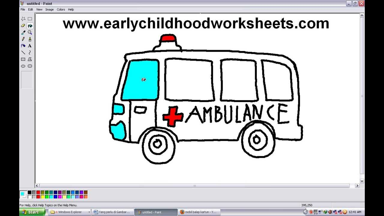 Drawn vehicle police car To Draw  by Ambulance