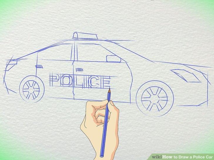 Drawn vehicle police car Police Draw Police Draw Car