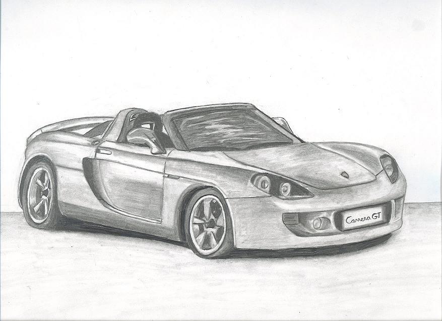 Drawn vehicle porsche GT by on Carrera GT