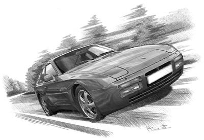 Drawn vehicle porsche Personalised half was built A