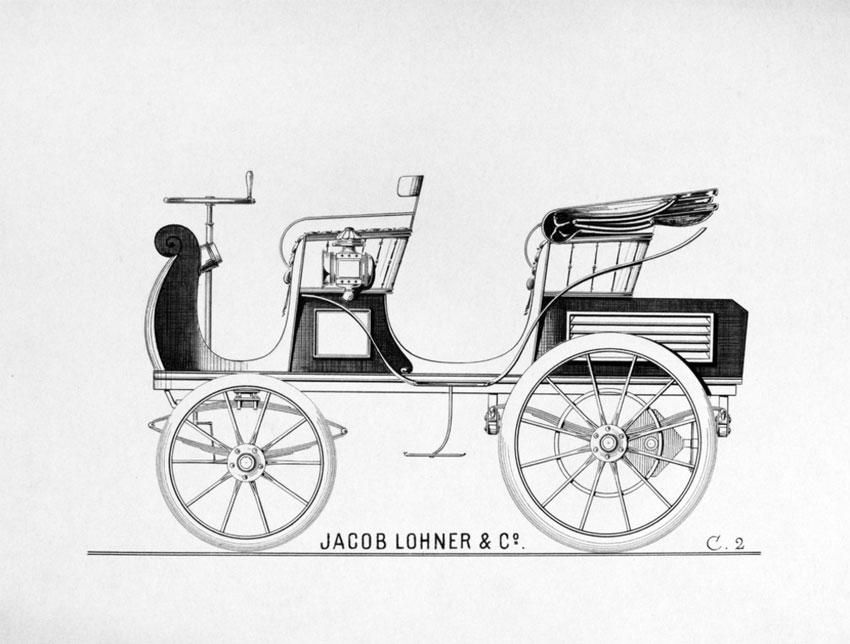 Drawn vehicle porsche Built in a 1898 First