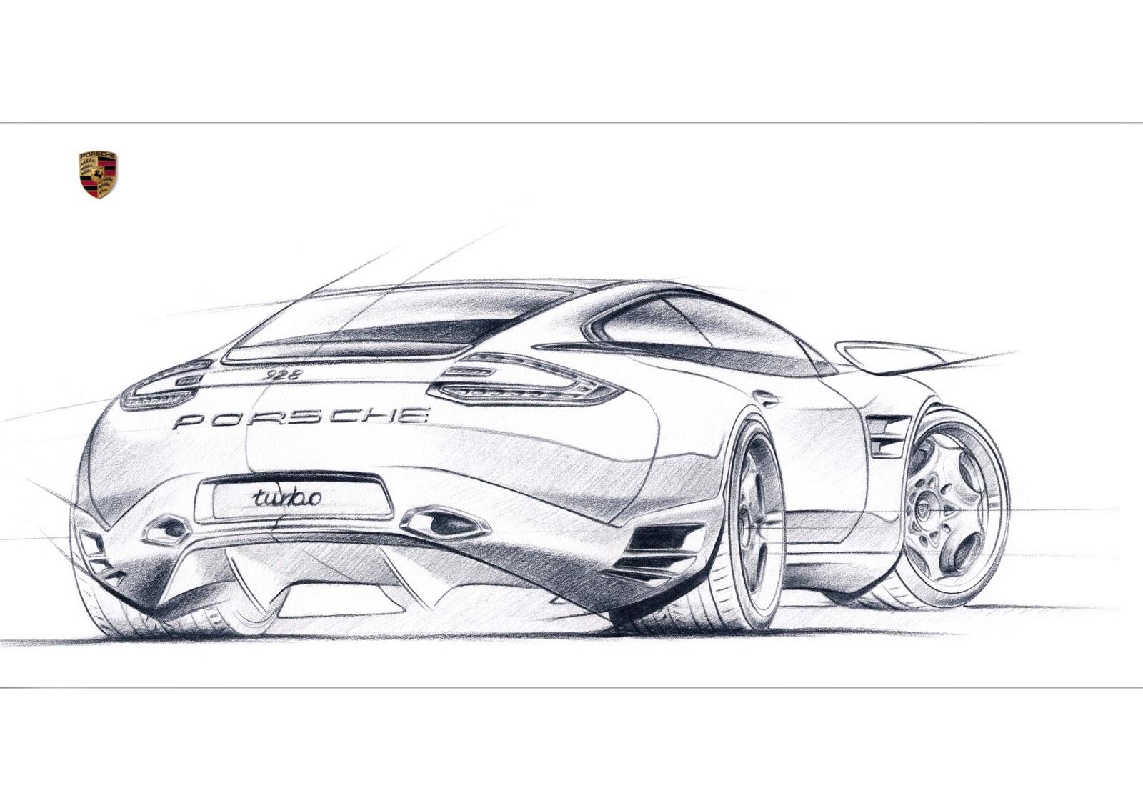 Drawn vehicle porsche Sketch+928 2 Pinterest #porsche cars