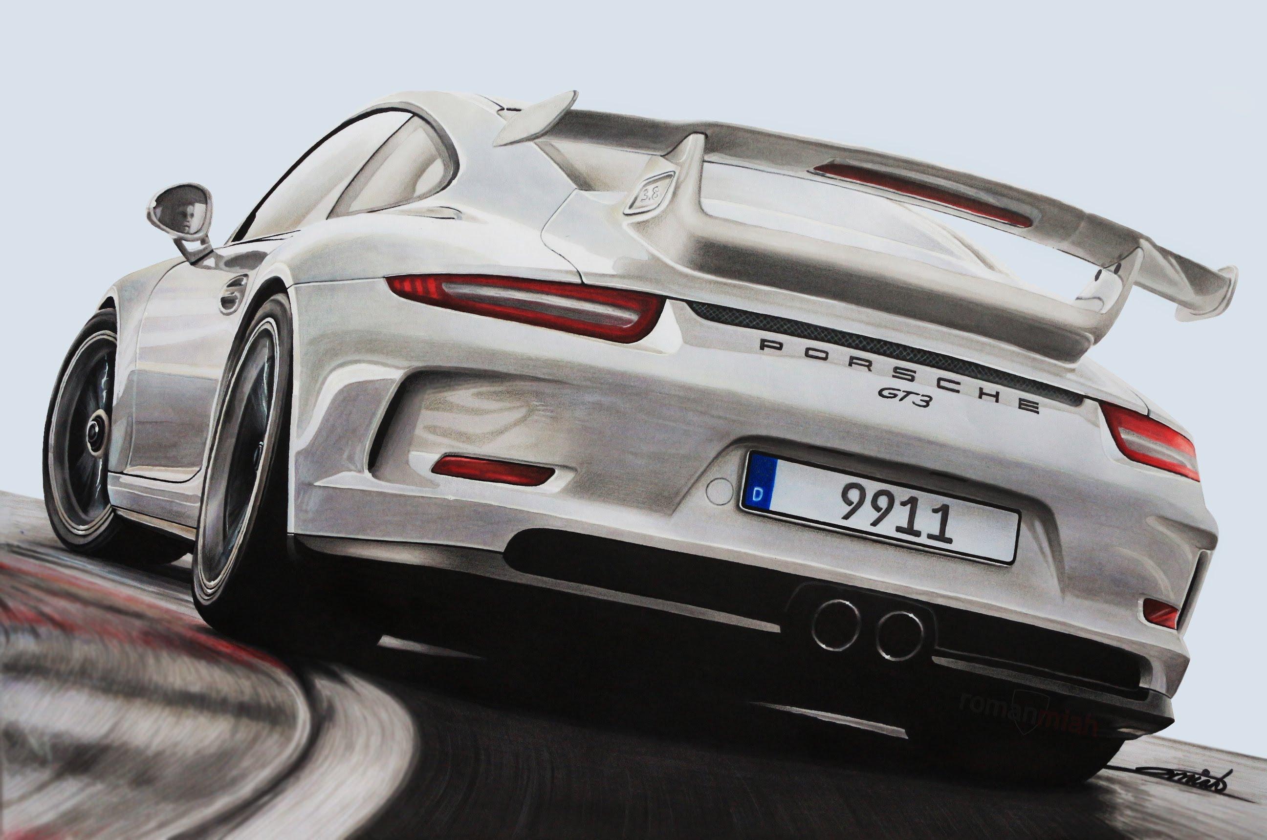 Drawn vehicle porsche 911 (991) YouTube GT3 Porsche