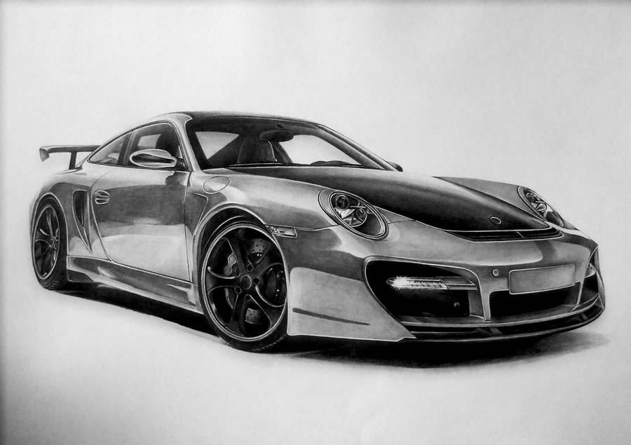 Drawn vehicle porsche Pin and car Great by