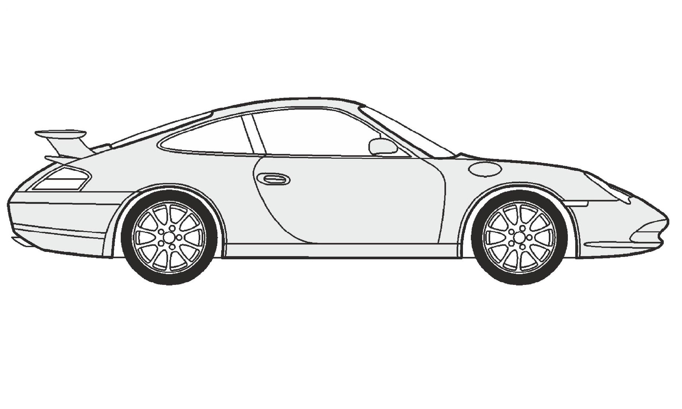 Drawn vehicle porsche 911 Porsche / GT3 GT3 нарисовать