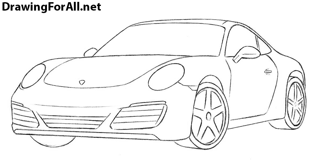Drawn vehicle porsche 911 How to a to a