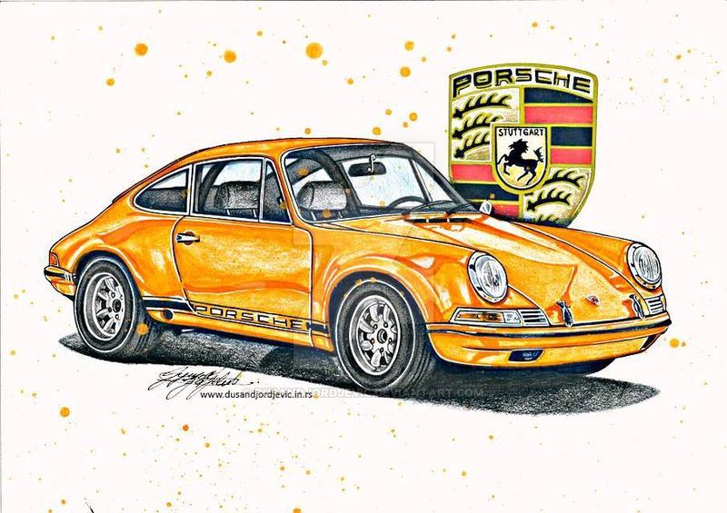 Drawn vehicle porsche 911 (CAR DRAWING) by Porsche dusandjordjevic