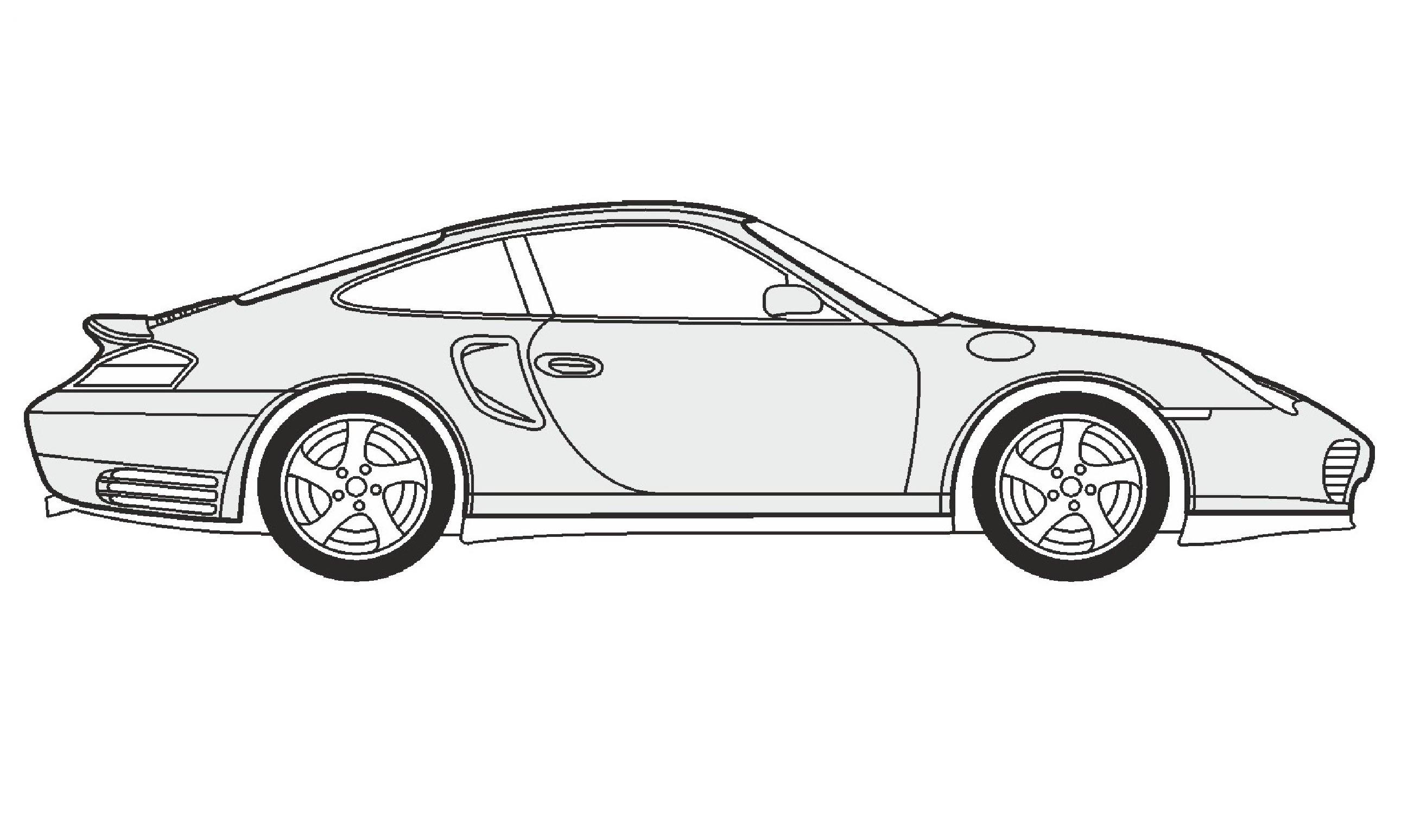 Drawn vehicle porsche 911 Porsche / Turbo Turbo нарисовать