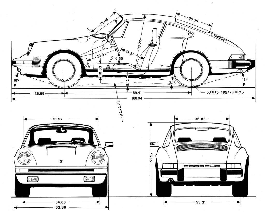 Drawn vehicle porsche 911 Porsche 911 Porsche Carrera Technical