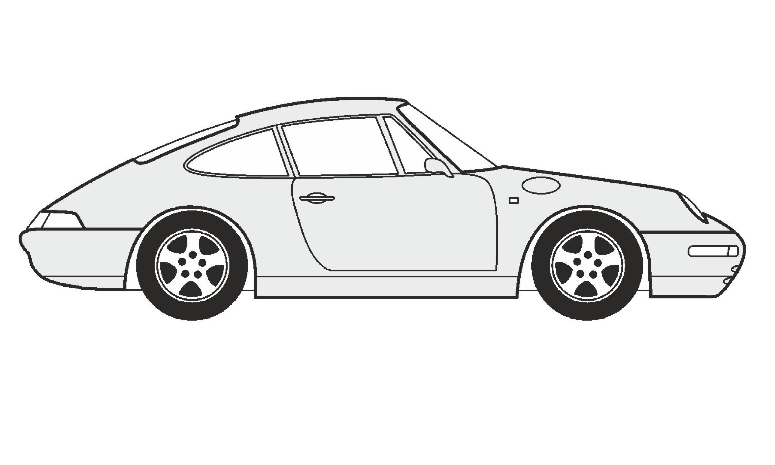 Drawn vehicle porsche 911 Porsche / Coupe Coupe нарисовать