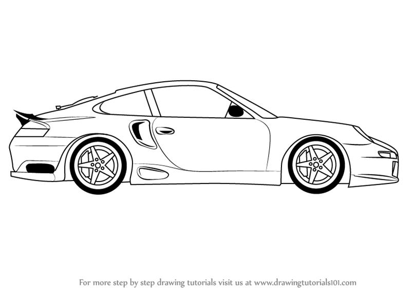 Drawn vehicle porsche 911 By Side View Car a