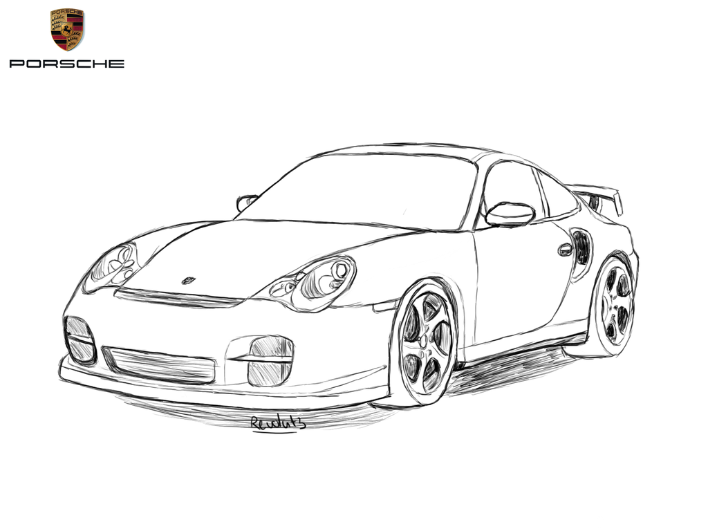 Drawn vehicle porsche 911 911 Drawing by 911 Revolut3
