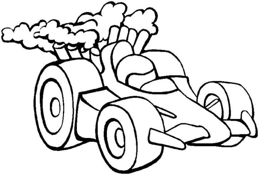 Drawn race car simple Pages 45 and Color pages
