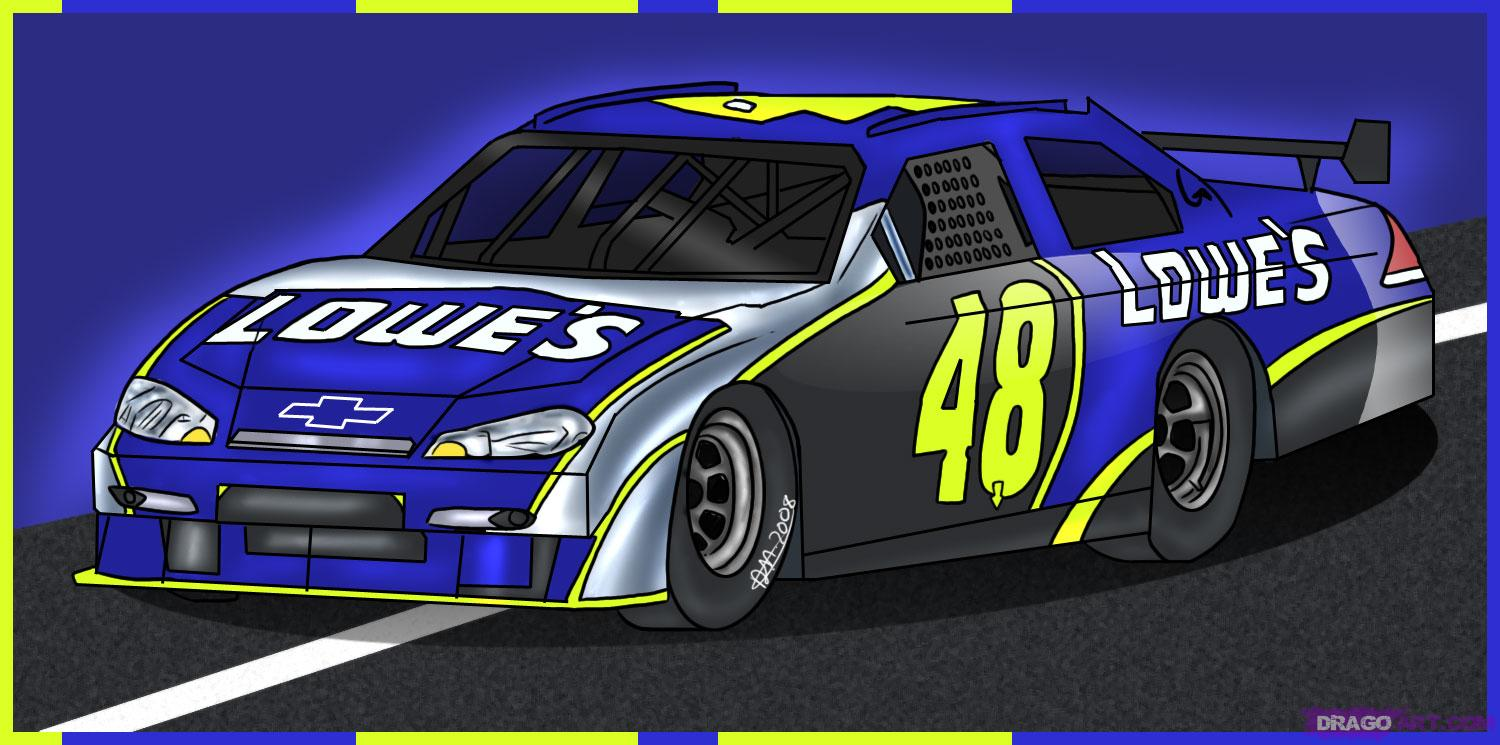 Drawn race car vehicle Step to Car Cars Online