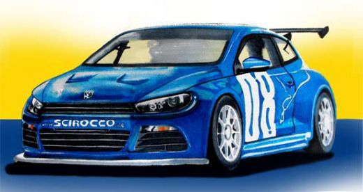Drawn vehicle road drawing GT24 drawn Scirocco Volkswagen pens