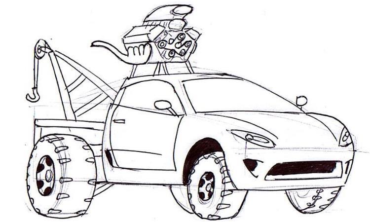 Drawn vehicle road drawing Rad Car off sports how