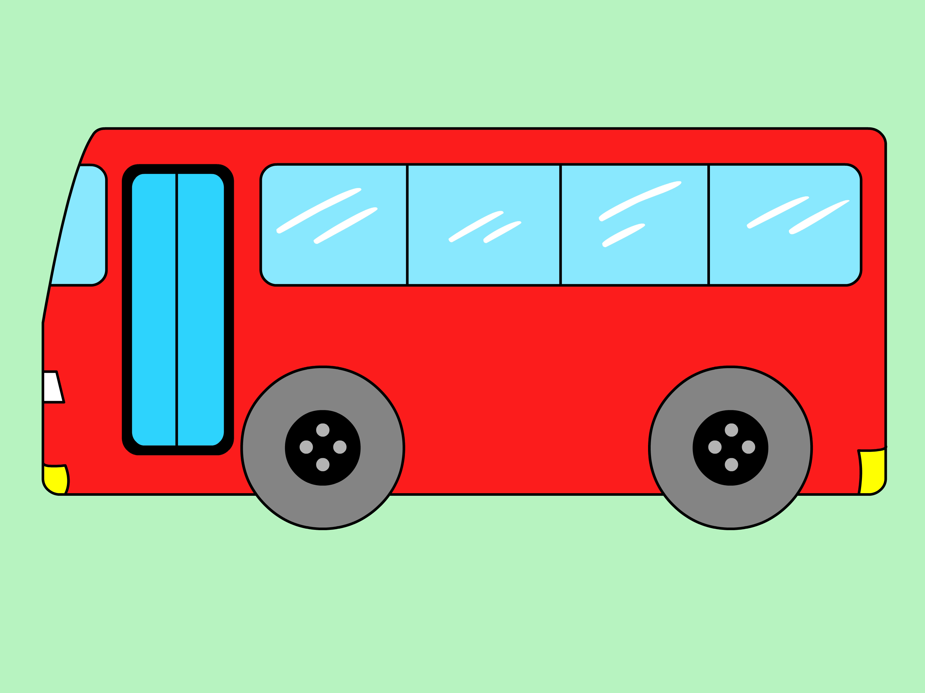 Drawn cartoon bus #2