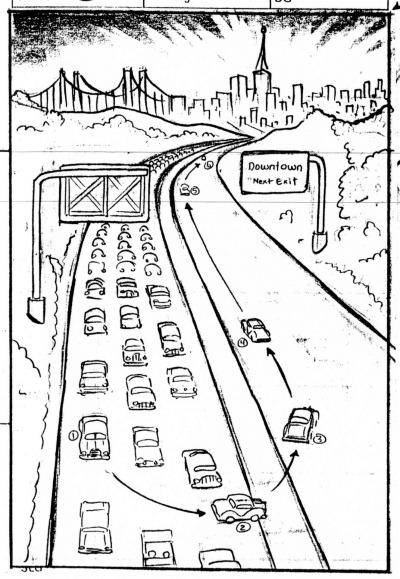 Drawn vehicle road drawing Car Turn drawing: Storyboard turnpike