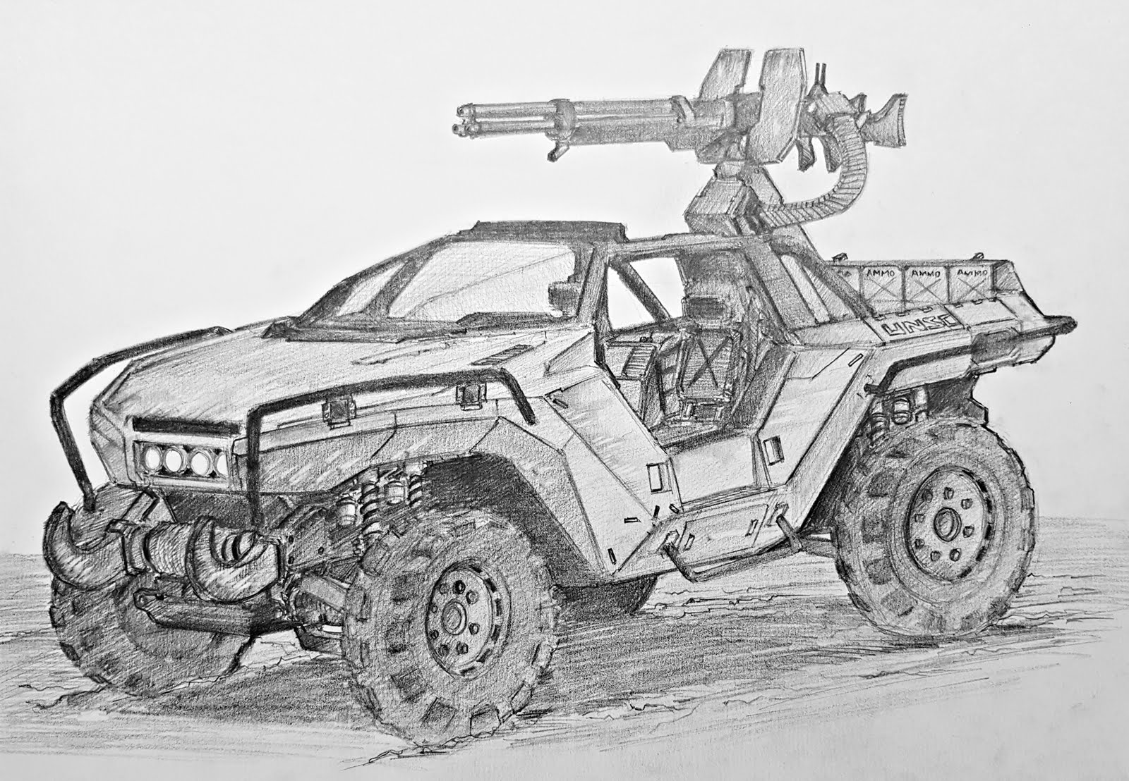 Drawn vehicle road drawing Draw To To How Warthog