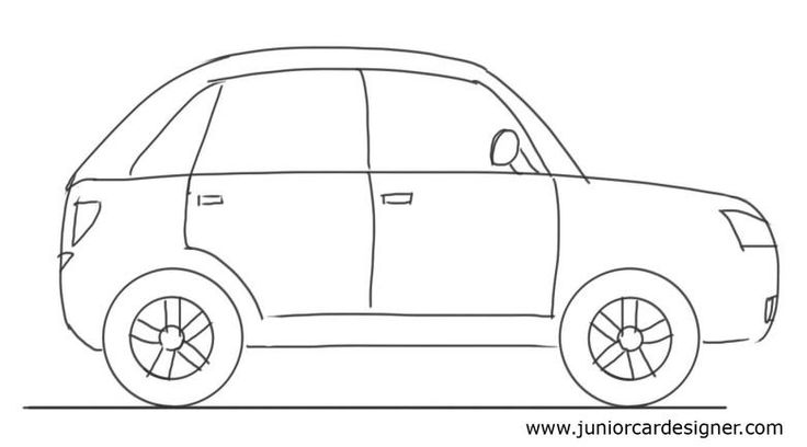 Drawn vehicle side view Drawing For Drawings Pinterest Car
