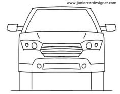Drawn vehicle side view Truck to car sketch drawing