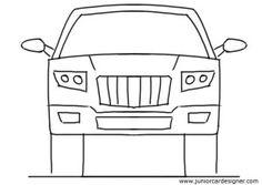 Drawn vehicle side view Front draw sketch car Výsledek