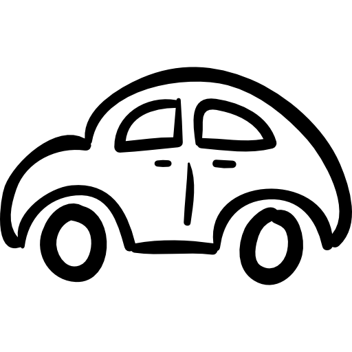 Drawn vehicle side view Hand free vehicle Car from