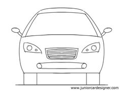 Drawn vehicle side view Drawing view  Car Drawing