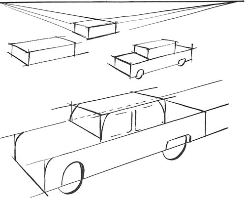 Drawn vehicle simple Ideas perspective Pin Simple Drawings