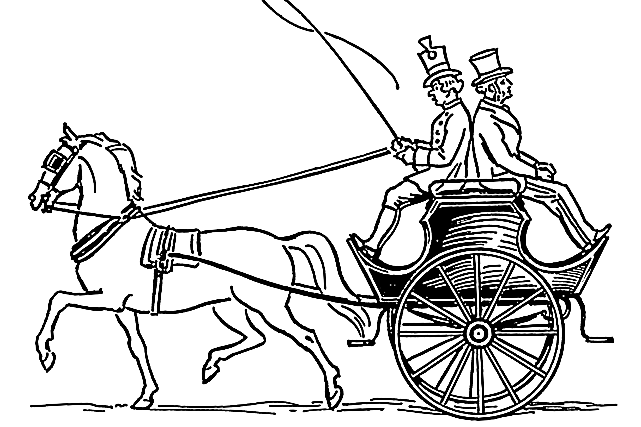 Drawn vehicle simple – Coaches Carriages and Reader