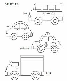 Drawn vehicle simple Coloring images draw about on
