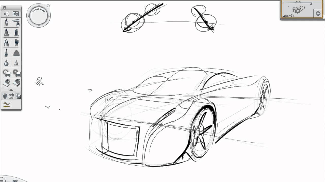 Drawn vehicle simple YouTube car tutorial sketch Basic